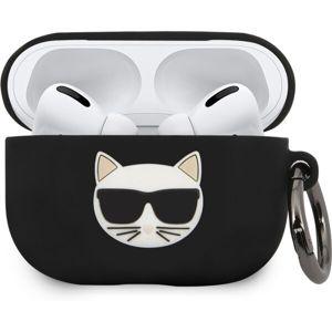 Karl Lagerfeld Choupette silikonový kryt AirPods Pro černý