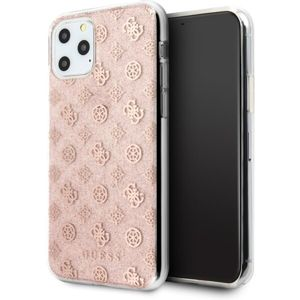 Guess 4G Peony Glitter GUHCN65TPERG kryt iPhone 11 Pro Max růžový