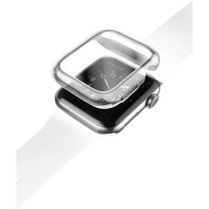 UNIQ Garde Hybrid TPU+PC pouzdro Apple Watch Series 4/5 (44mm) čiré