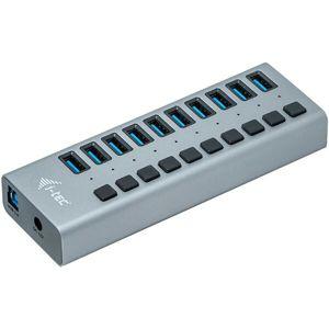 i-tec USB 3.0 Charging HUB 10 Port + Power Adaptér 48 W stříbrný