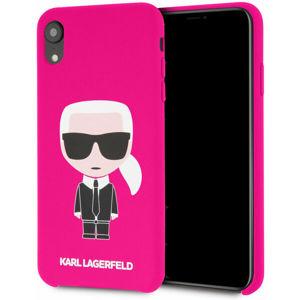 Karl Lagerfeld Full Body Iconic silikonové pouzdro iPhone XR fuchsiové