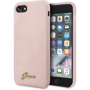Guess Retro silikonový kryt iPhone SE (2020)/8/7 růžový