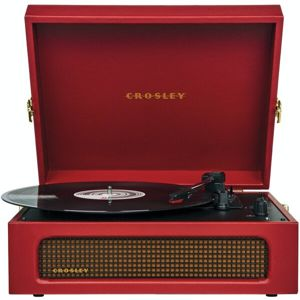 Crosley Voyager burgundy red