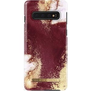 iDeal of Sweden ochranný kryt Samsung Galaxy S10+ Golden Burgundy Marble