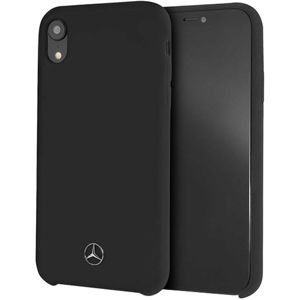 Mercedes MEHCI61SILBK Silicon/Fiber case Lining iPhone XR černé