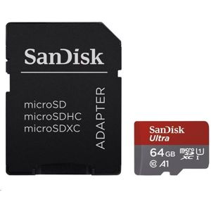 SanDisk Ultra microSDXC 64 GB A1 Class 10 UHS-I + adapter SD