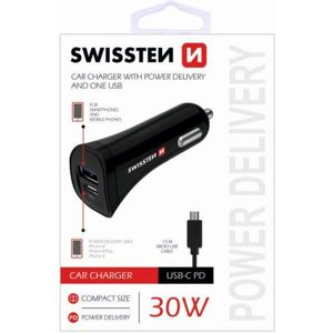 SWISSTEN CL adaptér Power Delivery USB-C, USB 2,4A, 30W + Kabel MicroUSB