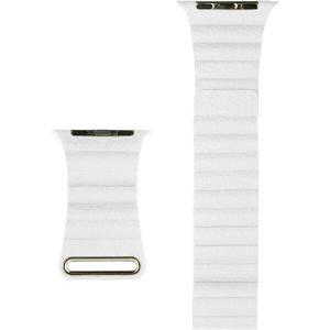 COTEetCI kožený magnetický řemínek Loop Band pro Apple Watch 38/40mm bílý
