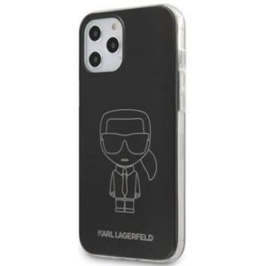 "Karl Lagerfeld PC/TPU Metallic Iconic Outline kryt iPhone 12/12 Pro 6.1"" černý"