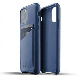 Mujjo Full Leather Wallet pouzdro iPhone 11 Pro modré