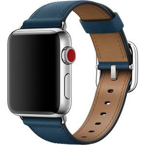 Apple Watch kožený řemínek s klasickou přezkou 38/40mm vesmírně modrý