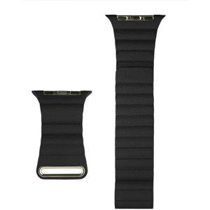 COTEetCI kožený magnetický řemínek Loop Band pro Apple Watch 38/40mm černý
