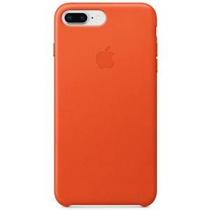 Apple kožené pouzdro iPhone 8 Plus / 7 Plus jasně oranžové