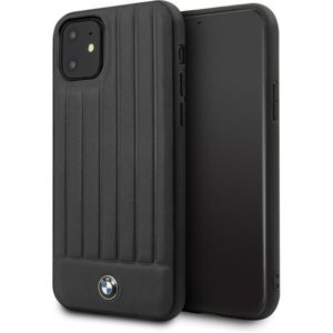 BMW Real Leather BMHCN61POCBK kryt iPhone 11 černý