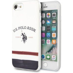 U.S. Polo Tricolore kryt iPhone SE (2020)/8/7 bílý