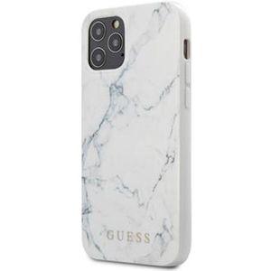 """Guess PC/TPU Marble kryt iPhone 12 Pro Max 6.7"""" bílý"""