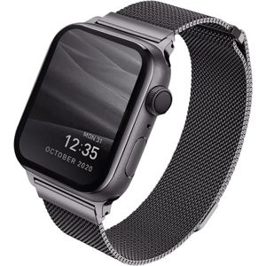 UNIQ Dante ocelový řemínek Apple Watch 40/38mm grafitový