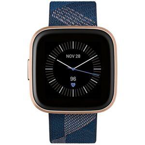 Fitbit Versa 2 Special Edition námořně modrý pásek růžově zlatý hliník