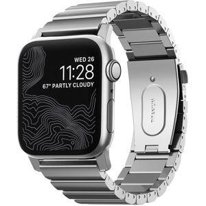 Nomad titanový řemínek Apple Watch 44/42 mm stříbrný