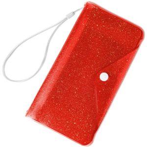 """CELLY Splash Wallet voděodolné pouzdro s peněženkou pro telefony 6,2 """" oranžové"""
