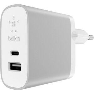 Belkin USB-C + USB-A 230V nabíječka 5V/3A,15W, bílá