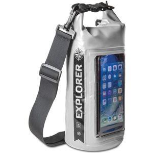 """CELLY Explorer voděodolný vak 2L s kapsou na telefon do 6,2"""" šedý"""