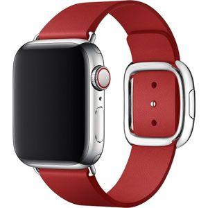 Apple Watch kožený řemínek s moderní přezkou 40/38mm vel. S (PRODUCT)RED