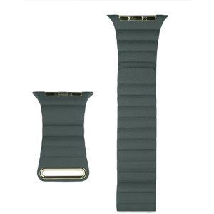 COTEetCI kožený magnetický řemínek Loop Band pro Apple Watch 38/40mm tmavě zelený
