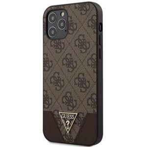 """Guess 4G Triangle kryt iPhone 12/12 Pro 6.1"""" hnědý"""