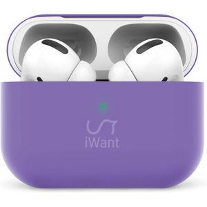 iWant AirPods Pro ultra-tenké pouzdro fialové