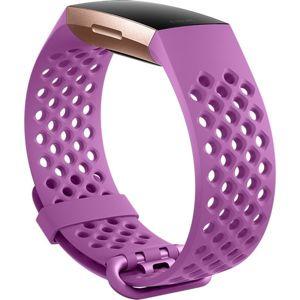 Fitbit Charge 3 silikonový řemínek vel. L Fialový