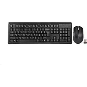 A4tech 4200N set bezdrátové klávesnice a myši CZ černý