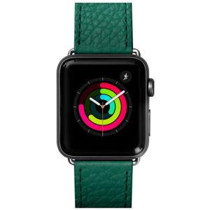 LAUT Milano kožený řemínek na Apple Watch 38/40 mm smaragdový