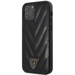 """Guess V Quilted kryt iPhone 12 Pro Max 6.7"""" černý"""