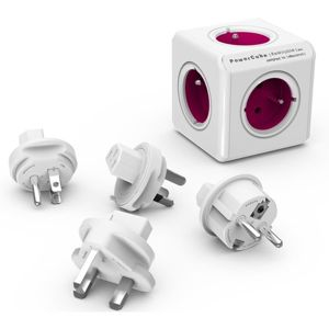 PowerCube ReWirable + Travel Plugs zásuvka fialová