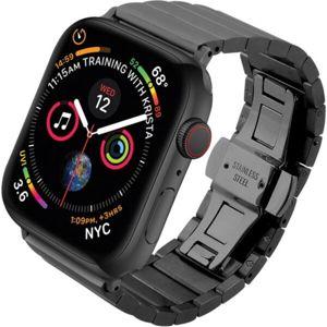 COTEetCI Stainless ocelový článkový řemínek Apple Watch 42/44mm černý