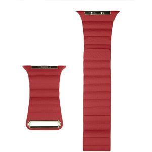 COTEetCI kožený magnetický řemínek Loop Band pro Apple Watch 38/40mm červený