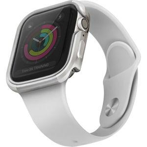 UNIQ Valencia kovové pouzdro Apple Watch Serie 4/5/6/SE (40mm) stříbrné