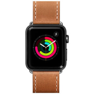 LAUT Safari kožený řemínek na Apple Watch 42/44 mm hnědý