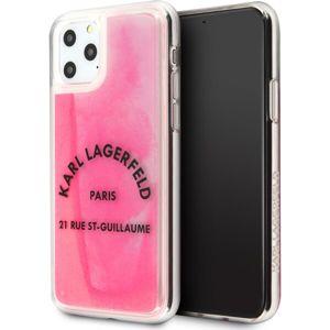 Karl Lagerfeld Glow in The Dark KLHCN58GLTRSL kryt iPhone 11 Pro růžový