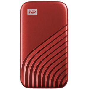 WD My Passport externí SSD 500GB červený