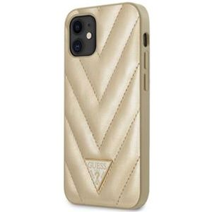 """Guess V Quilted kryt iPhone 12 mini 5.4"""" zlatý"""