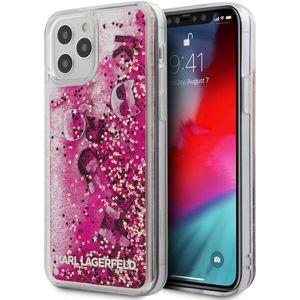 "Karl Lagerfeld Liquid Glitter Charms kryt iPhone 12 Pro Max 6.7"" růžový"