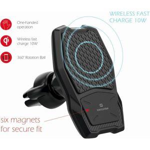 Swissten Av-S5 magnetický držák do ventilace s bezdrátovým nabíjením černý