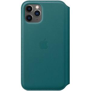 Apple Folio kožené pouzdro iPhone 11 Pro ledňáčkově tyrkysové