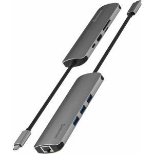 Swissten USB-C HUB 8in1 (USB-C PD, HDMI 4K, LAN RJ45, 3x USB 3.0, SD, MICRO SD)