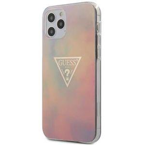 """Guess PC/TPU T&D Gold Triangle 01 kryt iPhone 12 Pro Max 6.7"""" růžový"""