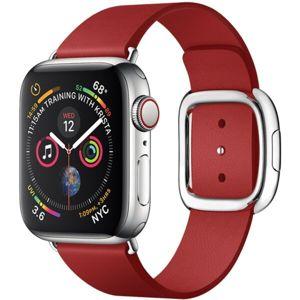 COTEetCI Nobleman kožený řemínek Apple Watch 42/44mm červený