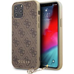 """Guess 4G Charms kryt iPhone 12 Pro Max 6.7"""" hnědý"""