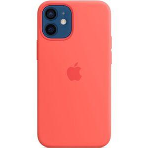 Apple silikonový kryt s MagSafe na iPhone 12 mini citrusově růžový